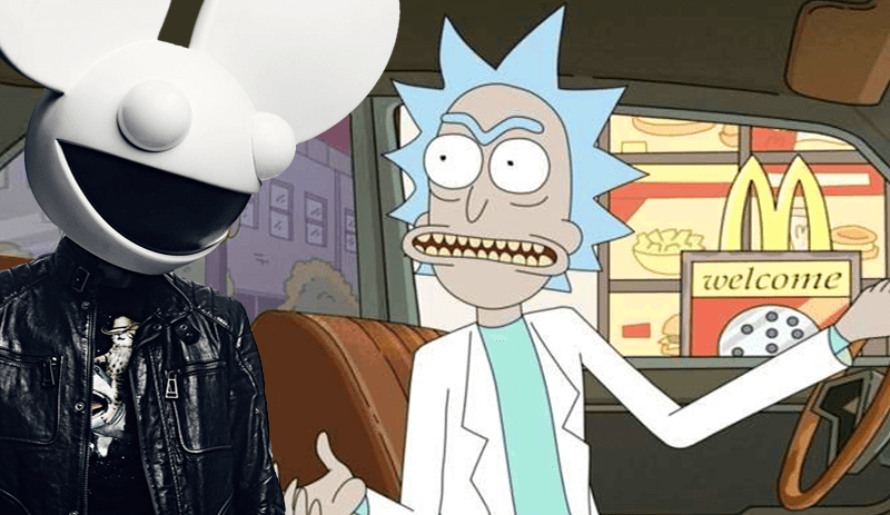 Watch Deadmau5 Ring In The New Year With A Custom Rick And Morty Skit On The Cube
