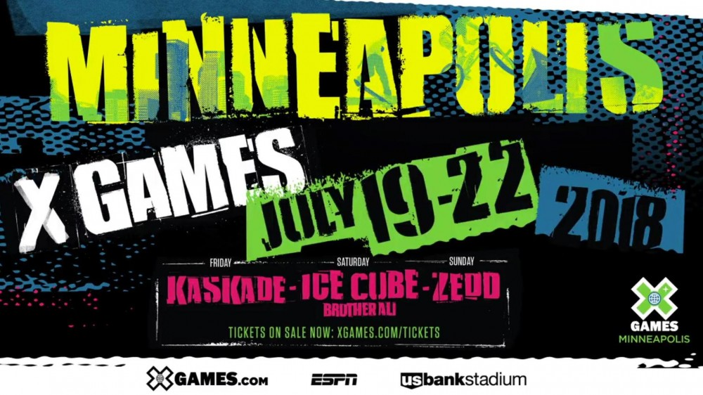 Music Performances For The 2018 X-Games Are Moving