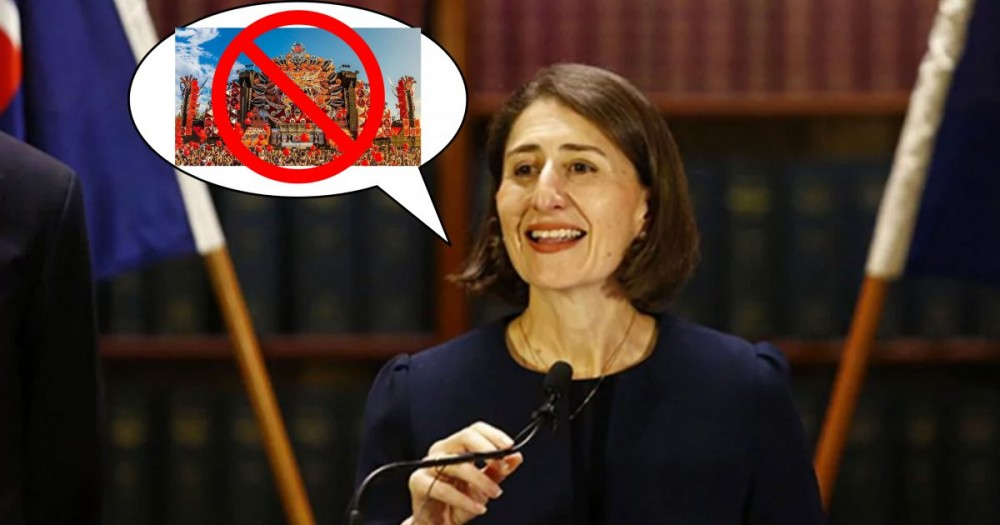 Gladys Berejiklian has just disappointed thousands of NSW music festival goers