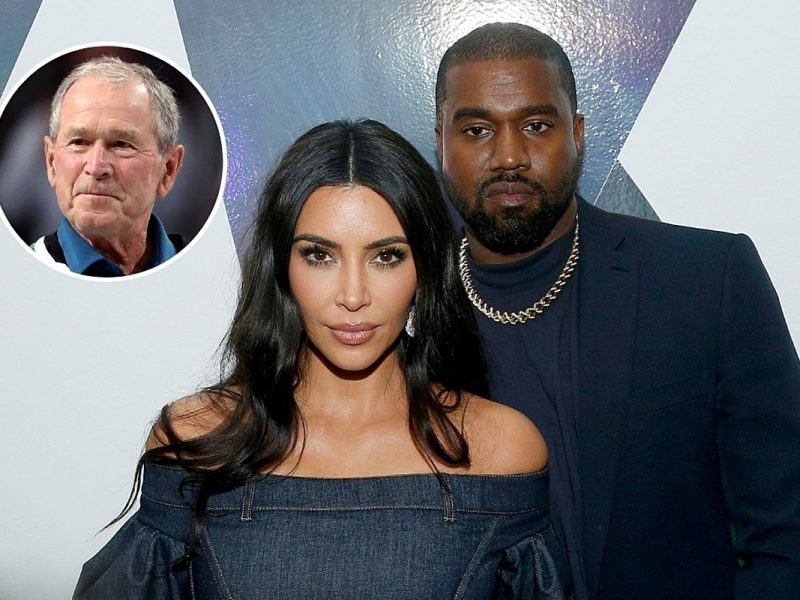 Are Kim Kardashian and Kanye West Related to George W. Bush?