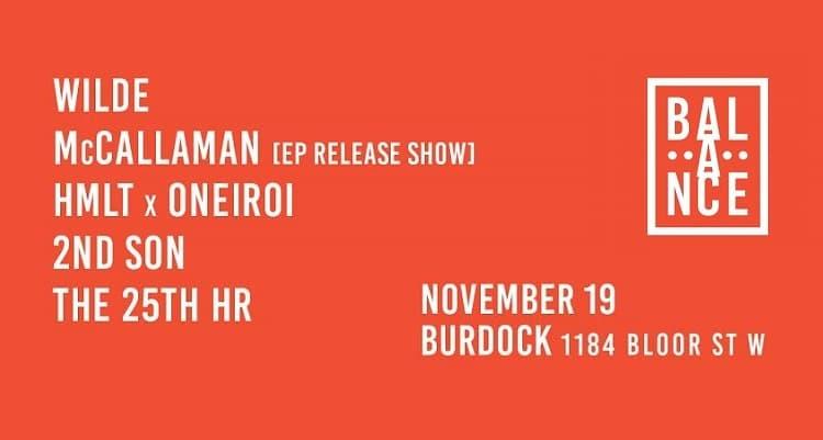 Balance Presents: November 19th At The Burdock